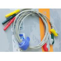 China Din Style IEC Safety 3 Leads ECG Monitor Cable And Leadwires Compatible All Brand wholesale