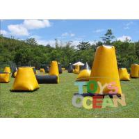 China Commercial Speedball Inflatable Bunkers / Indoor Paintball Field For Adults wholesale