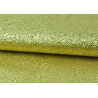 Sparkly Fine Pu Glitter Fabric Eco Friendly PU Synthetic Material Plain Color