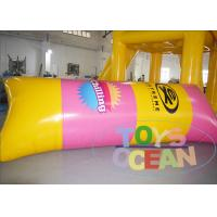 China 0.90mm PVC Inflatable Water Toys / Water Tower Blob Jumping Pillow For Rental wholesale