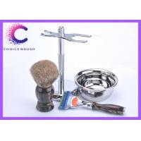 Quality Camouflage Toiletry Travel Shaving Kit with Pure Badger Brush And Fusion Razor for sale