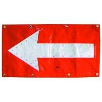 China Flashing LED Chevron Traffic Arrow Boards Mat Directional Warning Flag TAB053 wholesale