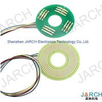 China High speed 360° Rotating Electric PCB Pancake slip ring ultra thin 6mm pancace slipring 12 circuits wholesale