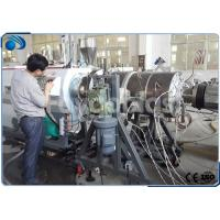 China 16~800mm HDPE Pipe Manufacturing Machines Single Screw Extruder With PLC Control wholesale