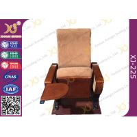 China Auditorium Conference Hall Chairs With Durable Plywood Writing Table / Large Iron Leg wholesale