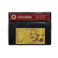 China South African 10 Rand 24K Gold Banknote PVC Frame Collectible Gold Craft wholesale