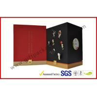 China Handmade Gift Packaging Boxes , Rubber Oil Paper With Embossed Logo on Rigid Board Gift Box wholesale