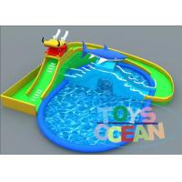 China Dragon Slide Shark Design Inflatable Water Pool For Summer Outdoor Aqua Fun wholesale