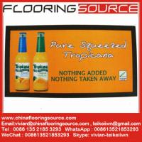 China Full colour promotional printed bar runners with nitrile rubber non-slip backing knitted polyester top wholesale