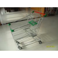 Green 125L Wire Shopping Trolley Zinc Plated With Clear Powder Coating