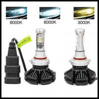 China X3 Fanless 6000LM 50W  ZES H7 H8 H9 H10 H11 H16 5202 9005 9006 LED headlight Car LED headlight LED fog light bulb wholesale