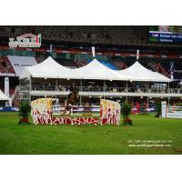China Double Decker High Peak Tents With Glass Walls For Horse Competition wholesale