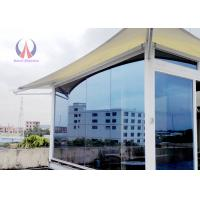 Wholesale Steel Structure Insulated Glass Walls Glamping , Permanent Camping Tent House For Resort from china suppliers