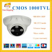 "Quality 1/3"" CMOS 1000TVL cctv system 3 ARRAY dome camera IR-CUT plastic Dome security for sale"