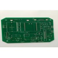 China Single Side FR4 White Silkscreen PCB , 1.6mm 1oz HAL Lead Free Green Solder Mask wholesale