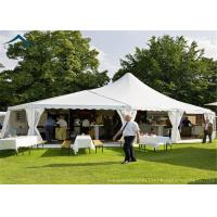 China White Mixed Party Marquees Tents With Aluminium Width 20m Outdoor Canopy wholesale