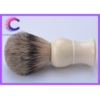 Quality Handmade shaving brushes white handle with best badger for barber shop for sale