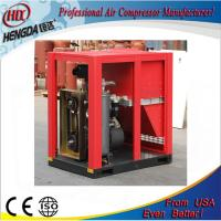 China IP54 Belt Driven Air Cooling Slient Screw Type Air Compressor With PLC Control wholesale