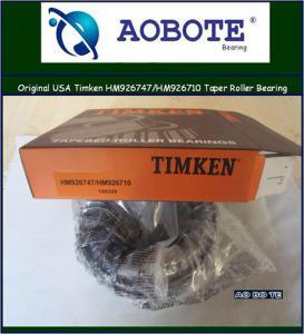 China Bi-direction Timken Taper Roller Bearings , high speed OEM car parts HM926747 / HM926710 wholesale