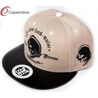Quality 100% Cotton Flat Brim Baseball Hats for sale