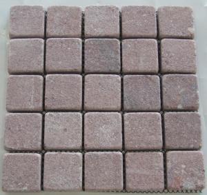 China Red Granite Pavers, Rectangular Red Granite Paving Stone for Park on sale