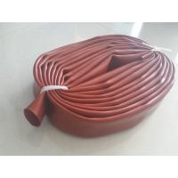 China Red Silicone Sleeve Silicone Tube Extrusion For Corona Roller Maximum 2m length on sale