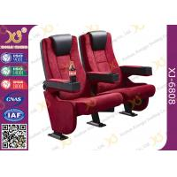 China Rocker Back luxury Movie Theatre Auditorium Chair With Tablet Arms wholesale