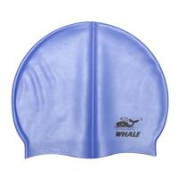 China Large Stretch Blue Silicone Swimming Caps Easy Fit Mold Fashionable For Adult wholesale