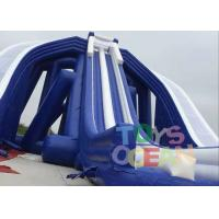 China Giant Blue Color PVC  Beach Inflatable Triple Hippo , Inflatable Water Slide for Adults wholesale