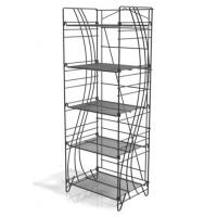 China Retail Foldable Wire Beverage Wine Drink Bottle Display Racks with 5 adjustable shelves wholesale