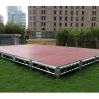 China Fast Install, Good loading Capacity, Brown Red Aluminum Plywood Portable Stage wholesale