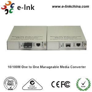 China SC Single Mode Fiber Ethernet Media Converter 10 / 100 / 1000M One TO One Managed wholesale