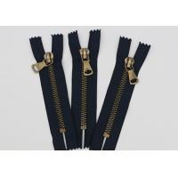 China Antique Brass Normal Teeth Fire Retardant Zippers 9 Inch Cotton Yarn Black Tape wholesale