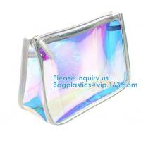 China Travel Pouch, Manufacture Clear PVC Zipper Puller Cosmetic Bag,Holographic Travel Pouch Cosmetic Bag Envelope Clutch Bag wholesale