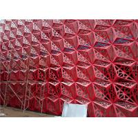 China Perforated Triangle Aluminum Panels With China Red Color for Building Cladding wholesale