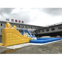 China Customized Inflatable Water Park Slide With Pool / Kids Inflatable Playground on sale