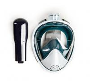 China Flat Lens 180 Degree Snorkel Mask , Waterproof Full Face Mask Anti - Leak wholesale