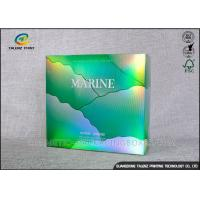 China Green Flute Cosmetic Packaging Box For Tea Gift Packaging / Cosmetic / Mask Product wholesale