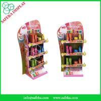 Quality pop 3 tier display Customized printed Promotion Rack advertising shelf Cardboard for sale