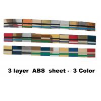 China 60x120cm 3 - Ply Abs Plastic Sheet  Engravable For Indoor Non-Illuminated Signs wholesale