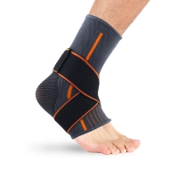 China Ankle Sleeve Ankle Brace Support Sport Adjustable Compression Foot Sleeve Ankle Guard wholesale