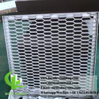 China Metal Aluminum expanded mesh screen for facade fence both powder coated wholesale