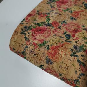 51 Flower Vegan Printed Cork Fabric Dipping Backing