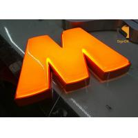 China Custom Formed Lighted LED Plastic Sign Letters With Metal Returns wholesale