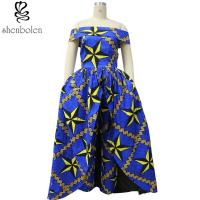 China Dashiki fabric African print dresses 100% cotton wax fabric off shoulder wholesale