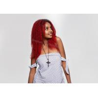 Buy cheap T1B lucky-red Lace Front Kinky Curly Hair Weave Human Hair Wigs For Black Women from wholesalers