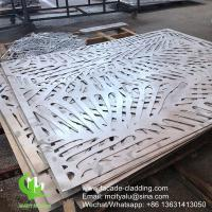 China China Powder coated Metal aluminum laser cut panel cladding for facade exterior cladding wholesale