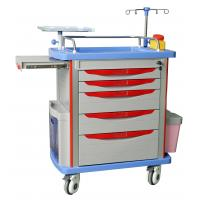China hospital emergency trolley luxurious  abs plastic drawer cart with wheels Drug Delivery Cart wholesale