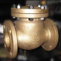 China Flap Type Bronze Swing Check Valve , Metal Seated Check Valve Integral Seat RF RTJ BW wholesale