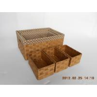 paper storage basket with lining